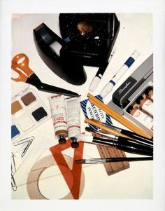 Andy Warhol Artist's Materials and Camera, 1982 polaroid photograph 4 x 3 1/4 inches; 10.2 x 8.3 cm PK 12358 [Paul Kasmin Gallery]