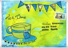Tea Time, mail art pour Véro