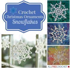17 Crochet Christmas Ornaments: Snowflakes | AllFreeCrochet.com