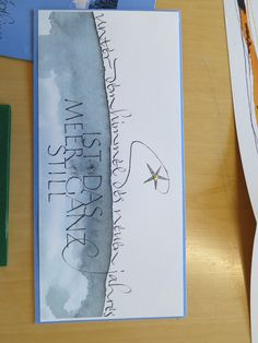Kalligraphie-Karte