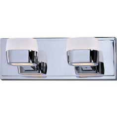 Pyramid Creations 2-Light Ellipse Polished Chrome Bathroom Vanity Light