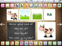 "Rotsvas Afrikaans ""Diere"" Afrikaans Language, Interactive Board, Future Jobs, Prep School, Toddler Crafts, App, Grade 2, Education, Homeschooling"