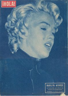 Hola - August 1957, magazine from Spain. Front cover photo of Marilyn Monroe at the announcement of her divorce from Joe DiMaggio to the press, October 6th 1954.