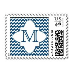 =>>Cheap          	Chic Chevrons Pattern Monogram - Blue White Postage Stamp           	Chic Chevrons Pattern Monogram - Blue White Postage Stamp in each seller & make purchase online for cheap. Choose the best price and best promotion as you thing Secure Checkout you can trust Buy bestReview  ...Cleck Hot Deals >>> http://www.zazzle.com/chic_chevrons_pattern_monogram_blue_white_postage-172873876892741526?rf=238627982471231924&zbar=1&tc=terrest