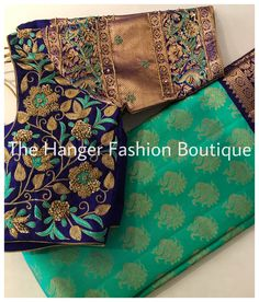 Wedding Saree Blouse Designs, Pattu Saree Blouse Designs, Simple Blouse Designs, Silk Saree Blouse Designs, Stylish Blouse Design, Blouse Neck Designs, Blouse Patterns, Wedding Sarees, Traditional Blouse Designs
