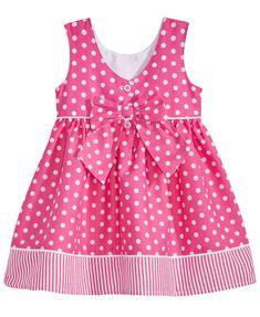 Blueberi Boulevard Baby Girls Dot-Print Cotton Sundress - P Cotton Frocks For Kids, Frocks For Babies, Baby Girl Frocks, Frocks For Girls, Little Girl Dresses, Girls Dresses, Summer Dresses, Baby Frock Pattern, Baby Girl Dress Patterns