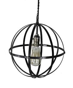 Look at this Large Orb Industrial Light on #zulily today! I LOVE this light!