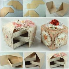 DIY Jewelry Box Made from Cardboard. See this tutorial here