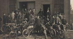 Vintage Harley Davidson Factory Photo