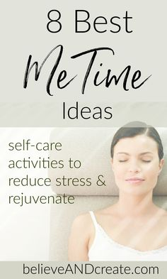 """Never underestimate the power of """"Me Time."""" You need it to relax unwind and rejuvenate. Click thru to read the very best me time ideas that will help you get the stress-reducing relaxation you both need and deserve! Wellness Tips, Health And Wellness, Mental Health, Self Development, Personal Development, Self Care Activities, Destress, Self Care Routine, Stress Management"""