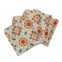 Amarela Dinner Napkins featuring Peach hearts by lfntextiles   Roostery Home Decor
