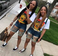 Go best friend, best friend goals, best friends, partners in crime, outfit goals Bestfriend Matching Outfits, Matching Outfits Best Friend, Best Friend Outfits, Best Friend Goals, Bestest Friend, Dope Outfits, Swag Outfits, Trendy Outfits, Summer Outfits