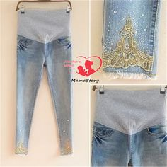 Maternidade gravidez jeans sarja maternidade jeans calças regulares para grávidas mulheres cintura elástica jeans grávidas roupa gravidez