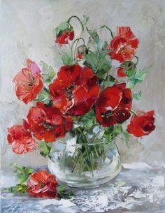 Gallery.ru / Foto # 1 - O artista Oksana Kravchenko. Papoilas e outras flores - Anneta2012