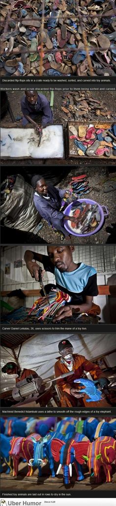 Recycling done right! Toys fashioned from shoes | uberHumor.com