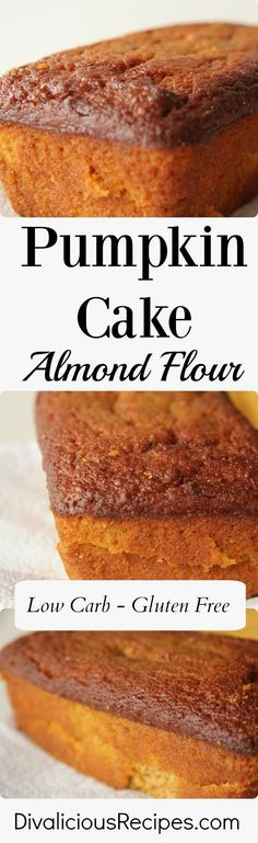 This pumpkin cake baked with almond flour yields a very moist cake. #7-Keto