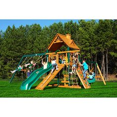 AWESOME!!! Gorilla Playsets Blue Ridge Frontier Wooden swing set