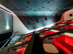 Multiplex Atmocphere cinema by Sergey Makhno on Interior Design Served Home Theater Room Design, Interior Design Classes, Home Theater Rooms, Home Theater Seating, Cinema Room, Luxury Movie Theater, Auditorium Design, Auditorium Seating, Interior Design Programs