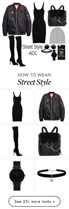 """""""Street Style"""" by anatiller on Polyvore featuring T By Alexander Wang, Chloé, Isabel Marant, Gucci, CLUSE and Betsey Johnson"""