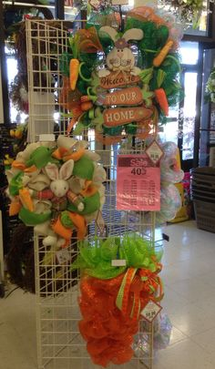A carrot themed Easter display, 2014 floral design, Tara Powers, Michaels of Midlothian, Va.