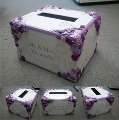 Customized Wedding Card Box 39 Purple Cakes 2017 Diy