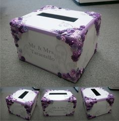 Customized Wedding Card Box. $39