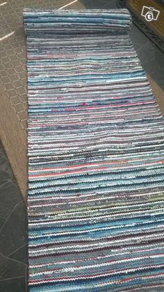 Rag Rugs, Recycled Fabric, Live Long, Rug Hooking, Woven Rug, Carpets, Weaving, Textiles, Tapestry