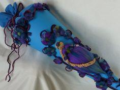 Schultüte Rapunzel Blütenwald *Waldorf Art* von HolzWolle-SpielKunst auf DaWanda.com