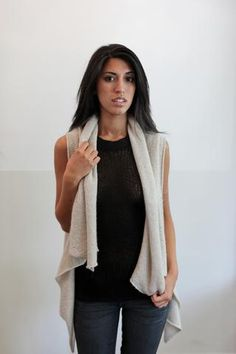EVERYONE needs a Souchi-Theresa Cashmere Vest Cape!!!