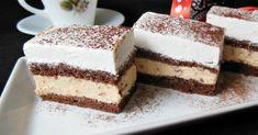 Könnyed finomság, amivel nem lehet betelni! Imádom a habos finomságokat!  Hozzávalók:  6 tojás 5 evőkanál cukor 5 evőkanál liszt 1 tasak sütőpor 2 evőkanál kakaópor… Kolaci I Torte, Creme Caramel, Food Cakes, Vanilla Cake, Tiramisu, Cake Recipes, Cheesecake, Muffin, Food And Drink