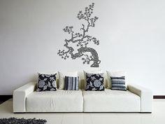 kik350 Wall Decal Sticker Room Decor Wall Art Mural Japanese bonsai tree living room Japanese restaurant