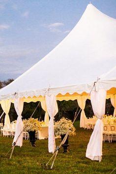 Tented Backyard Wedding Decor Ideas / http://www.deerpearlflowers.com/wedding-tent-decoration-ideas/2/