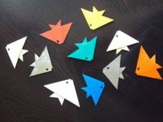 more origami fish with a good tutorial
