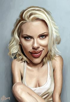 Scarlett Johansson Caricature    Neil Davies has a wonderful talent in drawing caricatures he has to be one of the best in the business.