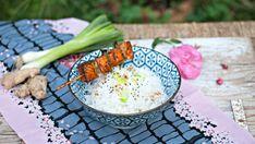 Teriyaki salmon with ginger rice