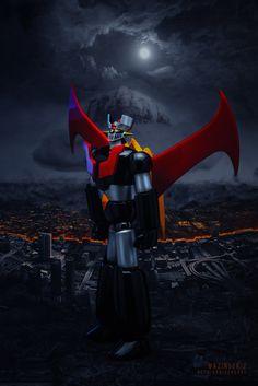 Mazinger Z Anniversary by Aldo VC on YouPic Otaku Anime, Anime Art, Ultraman Tiga, Japanese Robot, Japanese Superheroes, Deadpool Wallpaper, Vintage Robots, Dope Wallpapers, Gundam Art