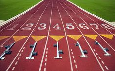 My favorite lane #4 with my specialty in track...The starting blocks