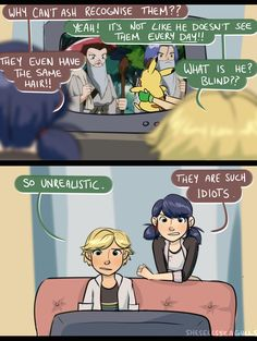 Haha, everyone in Miraculous Ladybug seems to be more clueless than the Pendragon family in Merlin