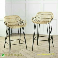 Add character to any space with bar stools and counter stools that stand out. From cushioned to wicker, there's a style and design for any room. Rattan Counter Stools, Rattan Stool, Kitchen Counter Stools, Swivel Chair, Chair Cushions, Bar Counter, Kitchen Chairs, Ikea Kitchen, Chair Pads