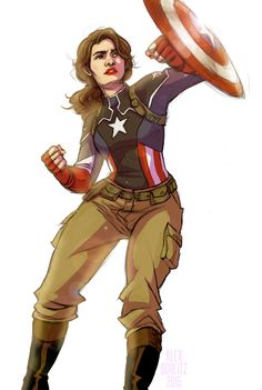 Peggy Carter as Captain America by Alex Schlitz - fan art / concept art
