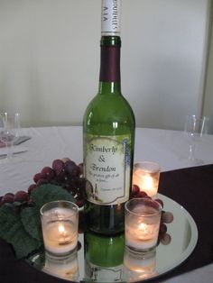 Centerpiece for a wine themed bridal shower