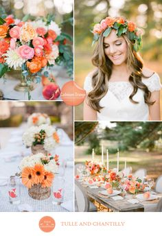 cadmium orange and white inspired fall wedding 2015