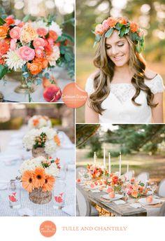 cadmium orange and white inspired fall wedding 2015