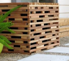 Pallet Cover For Ac Unit Version Copied Off A Pinterest