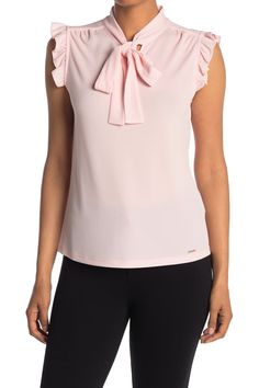 Nordstrom Store, Brand It, Ruffle Trim, Cap Sleeves, Must Haves, Calvin Klein, Bows, Tie, Closet
