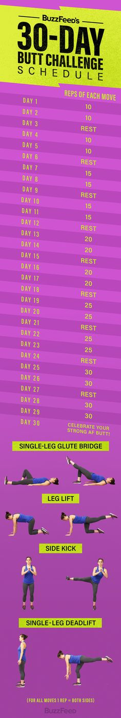 Here's the drill: | Take This 30-Day Butt Challenge Because Strong Buns Are Happy Buns - BuzzFeed News