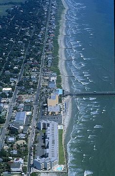 Great birds eye view of the sandy Folly Beach located just outside of Charleston, SC. Shop online to see our Beach Charms Folly Beach South Carolina, Carolina Usa, Charleston South Carolina, Charleston Sc, Places Around The World, The Places Youll Go, Places To See, Around The Worlds, Vacation Trips