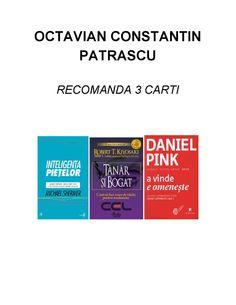 PATRASCU OCTAVIAN - RECOMANDA 3 CARTI