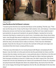 Lana Parilla - Once Upon a Time cast reveals memories from shooting the pilot