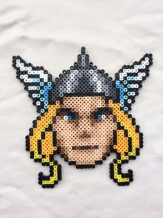Thor Perler Bead Sprite for sale by PrettyPixelations!